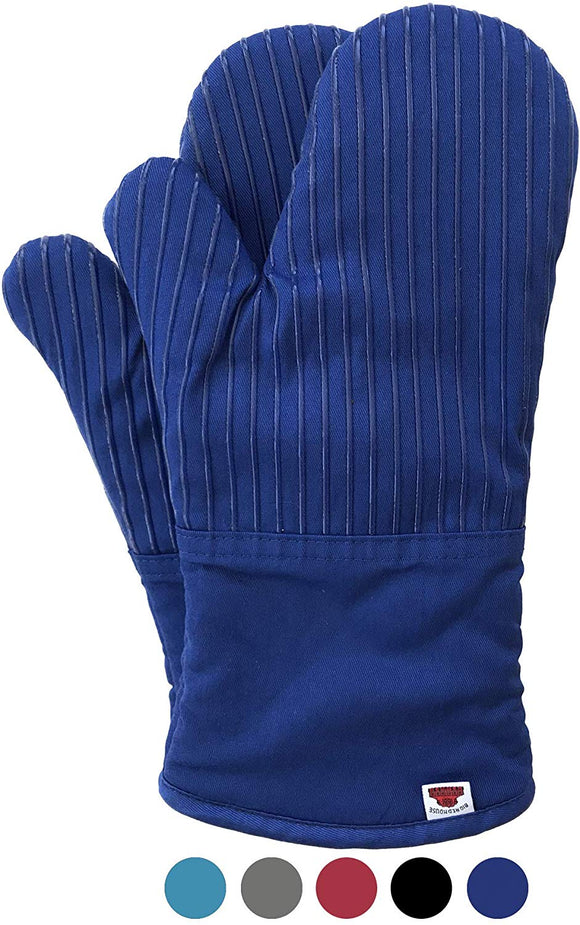 Big Red House Oven Mitts, with The Heat Resistance of Silicone and Flexibility of Cotton