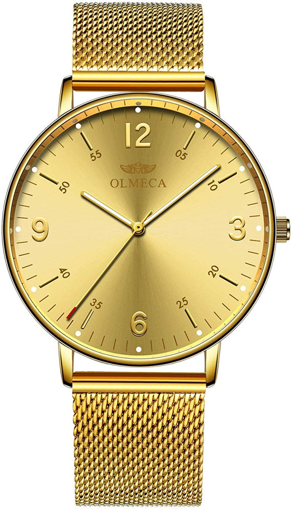 OLMECA Men's Watches Fashion Simple Watches Ultra Thin Wristwatches
