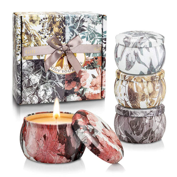 TOFU Winter Decor Scented Candles,Christmas Home Decor Candle Gift Set