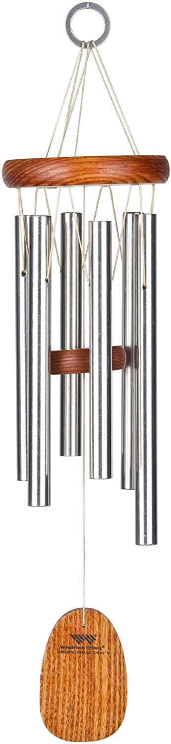 Woodstock Chimes AGMS Amazing Grace Chime, Medium, Silver