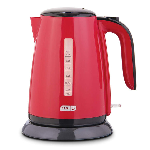 Easy Electric Kettle + Water Heater with with Rapid Boil, Cool Touch Handle, Cordless Carafe + Auto Shut off for Coffee, Tea, Espresso 57 oz. / 1.7L