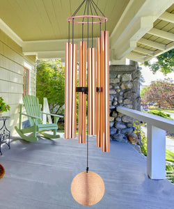 Astarin Wind Chimes Outdoor Large Deep Tone, 48-Inch Tuned Wind Chimes, Memorial Wind Chimes as Sympathy Gifts, Outdoor Decoration for Garden, Patio (Copper Wind-Chime, Bronze)