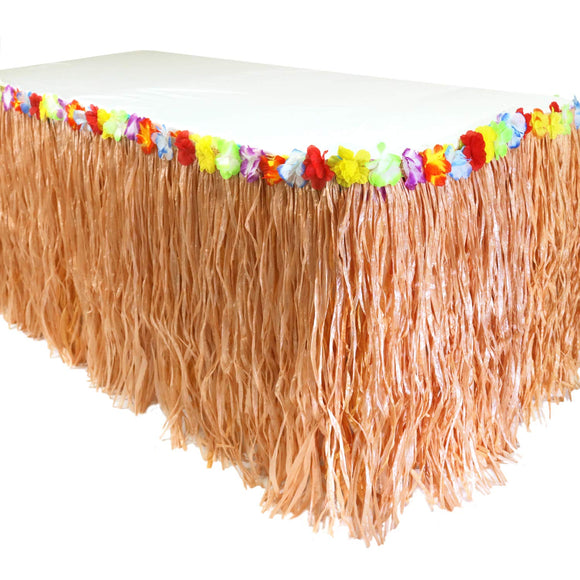 GiftExpress 9 feet X29 Luau Grass Table Skirt