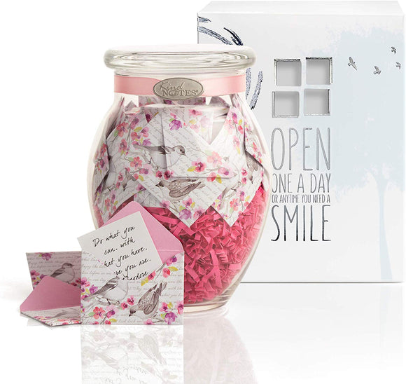 KindNotes Glass Keepsake Gift Jar with Sympathy Messages