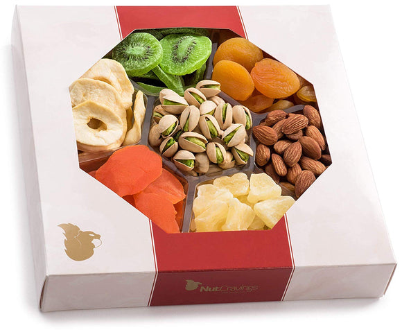 Nut Cravings Dried Fruit and Nut Gift Platter - Gift Baskets