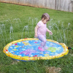 YIZER Sprinkler pad & Splash Play Mat Sprinkler for Kids