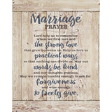 Marriage Prayer Wood Plaque Inspiring Quote 5.5x12