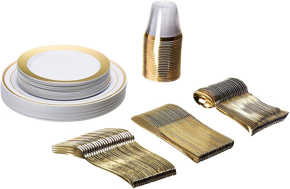 Plastic Dinnerware 150 Piece Set