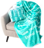 BlankieGram Faith Throw Blanket with Inspirational Thoughts and Prayers