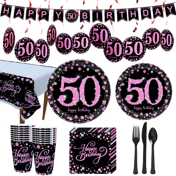 Trgowaul 50th Birthday Party Supplies
