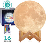 Mind-glowing 3D Moon Lamp