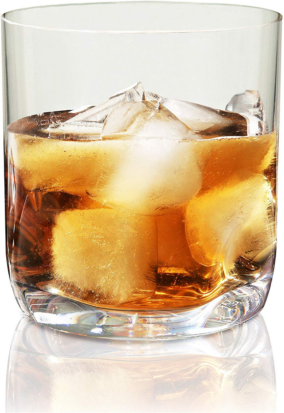Vivocci Unbreakable Tritan Plastic Rocks 12.5 oz Whiskey & Double Old Fashioned Glasses