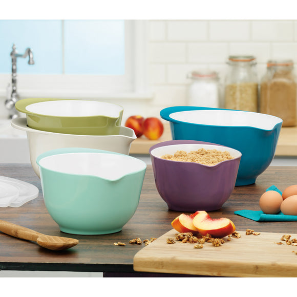Pandex 5-piece Melamine Mixing Bowls with Lids