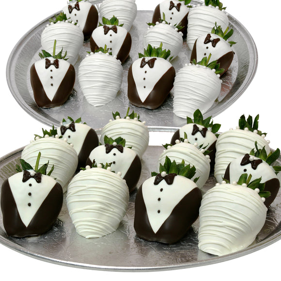 Belgian Chocolate Covered Wedding Strawberries-24-piece