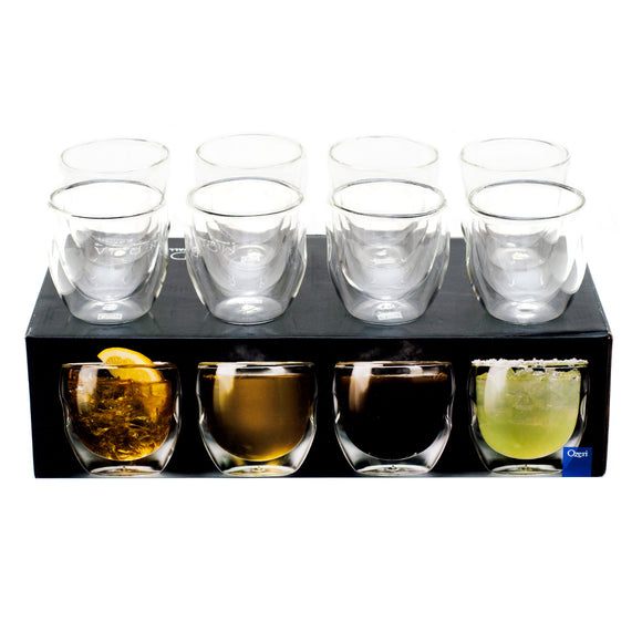 Ozeri Moderna Artisan Series 8-piece Double-wall 8 oz. Glasses