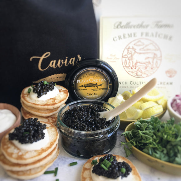 Plaza Osetra Farmed Bulgarian Sturgeon Caviar 2 oz Gift Set