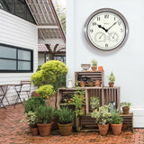 "Westclox 12"" Indoor/Outdoor Wall Clock with Temperature & Humidity"