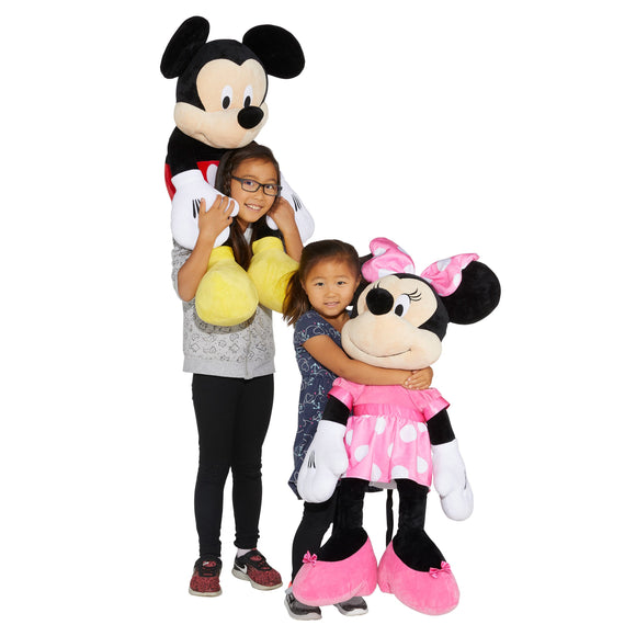 Disney Mickey Mouse and Minnie Mouse Jumbo Plush, 2-pack