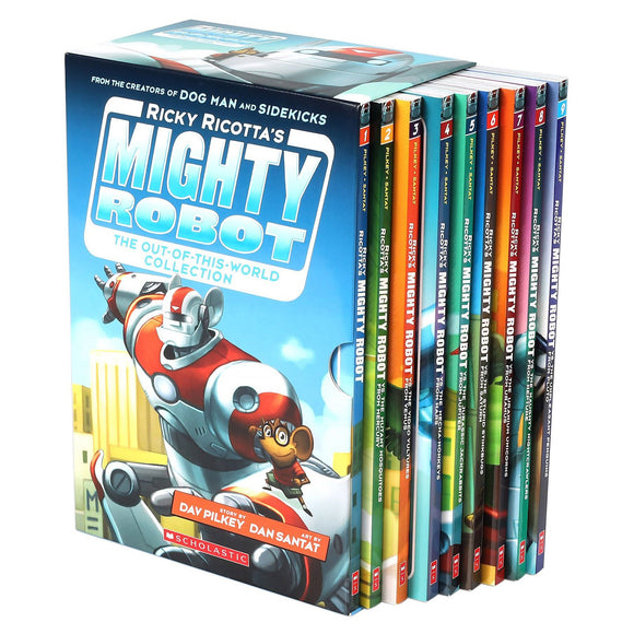 Ricky Ricotta's Mighty Robot Out-Of-This-World Collection: 9 Book Box Set by Dav Pilkey