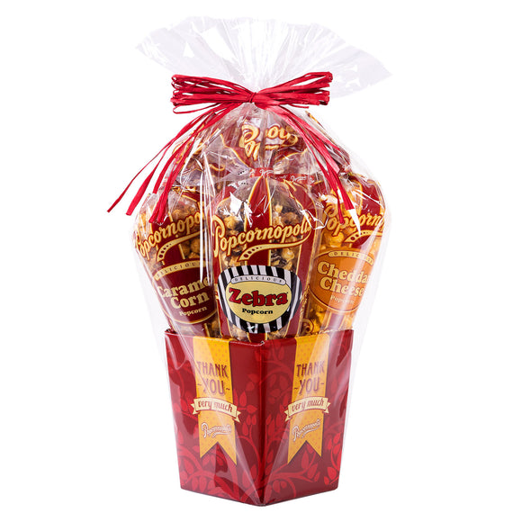 Popcornopolis Special Occasions 5-cone Popcorn Gift Baskets