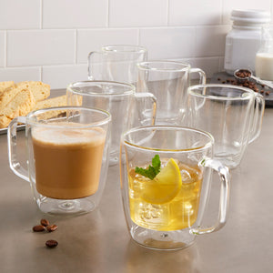 J.A. Henckels Double Wall Mug Set, 6-piece