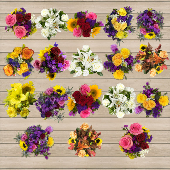 18 European Mini Bouquets (Grower's Choice)