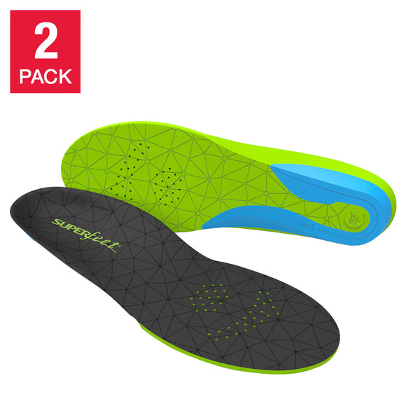 Superfeet FLEXmax Athletic Shoe Comfort Insoles, 2-pack