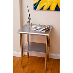 "TRINITY EcoStorage Stainless Steel Table - 24"" x 24"" x 35"" - NSF"