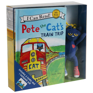 Pete The Cat by James Dean: 6 Book Box Set with Backpack Pull