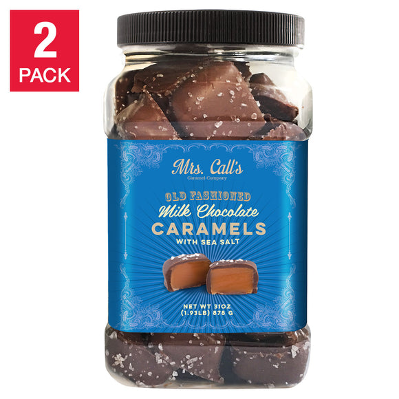 Mrs. Call's Old Fashioned Milk Chocolate Caramels with Sea Salt 31 oz, 2-count