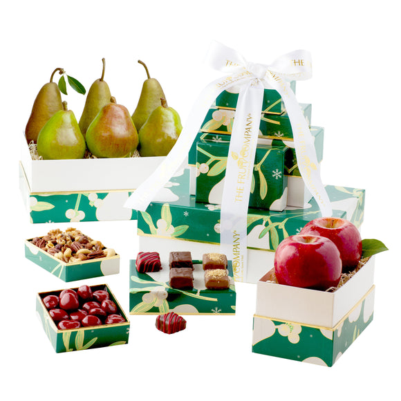 The Fruit Company Classic 5-Box Holiday Tower
