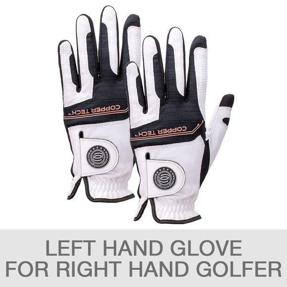 Copper Tech Golf Glove, 2-pack