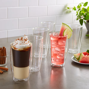 J.A. Henckels 11.8oz Double Wall Glass set, 6-piece