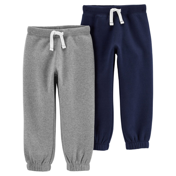Carter's Mix and Match Pants, Light Gray/Blue, 2-pack