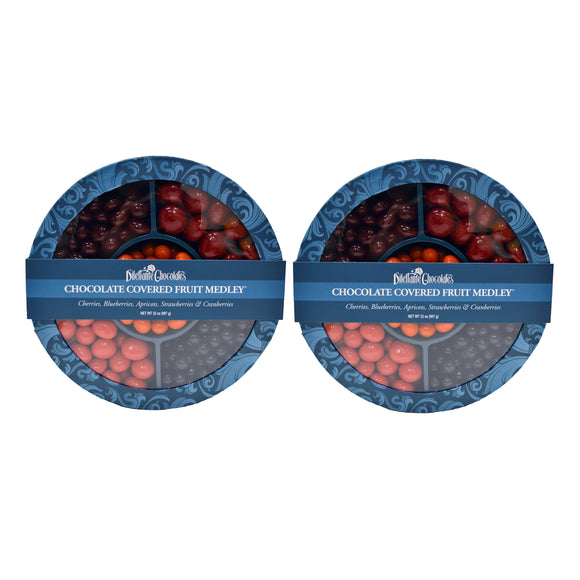 Dilettante Chocolates Chocolate Covered Fruit Medley 32 oz, 2-pack