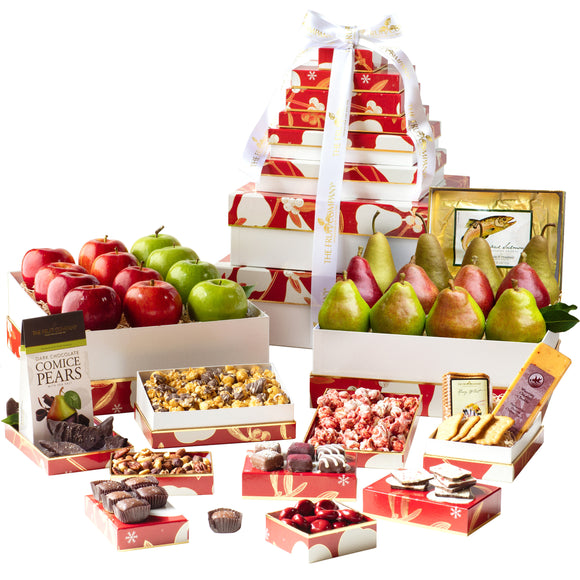 The Fruit Company Grand 12-Box Holiday Tower
