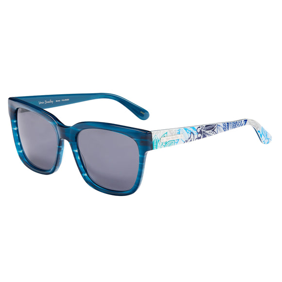 Vera Bradley Berverly Santiago Blue Polarized Sunglasses