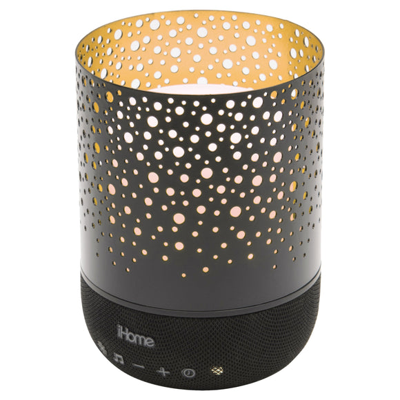 iHome Zenergy Meditative Light & Sound Therapy Candle - Black