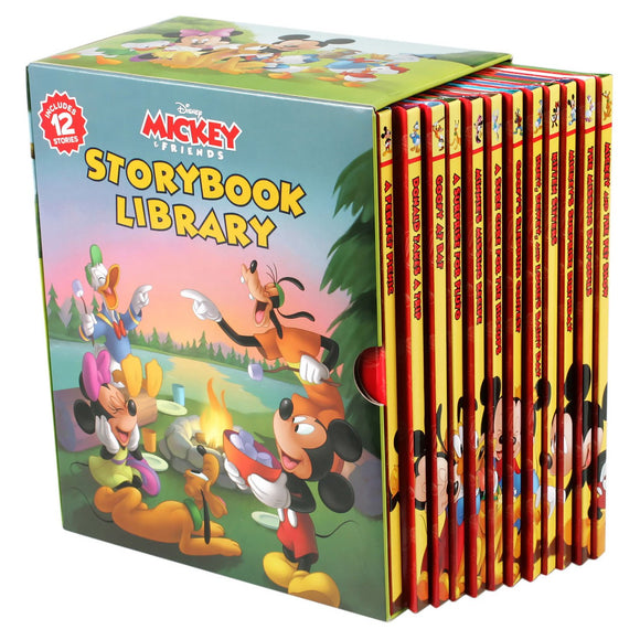 Disney Mickey & Friends Storybook Library: 12 book Box Set