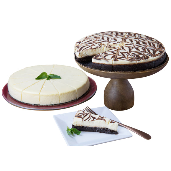 David's Cookies No Sugar Added Cheesecake & Marble Truffle Cake, 2-pack