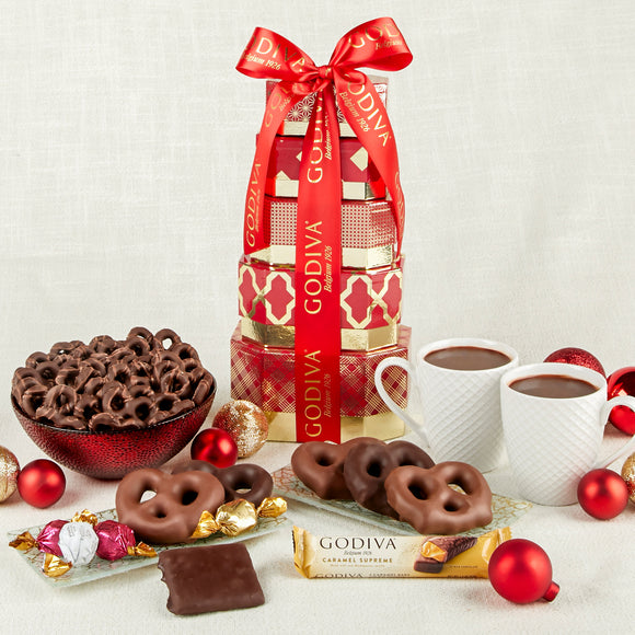 Godiva 5 Tier Holiday Gift Tower
