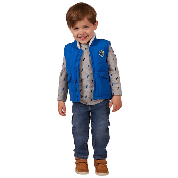 Buffalo 3-piece Vest Set, Blue