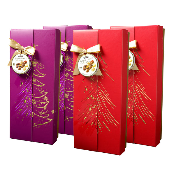 Kirkland Signature Luxury Belgian Chocolate  2 Red & 2 Purple Boxes, 4-count