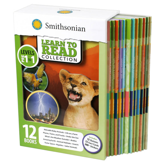Smithsonian Learn to Read Collection Pre Level 1- Level 1: 12 Book Box Set