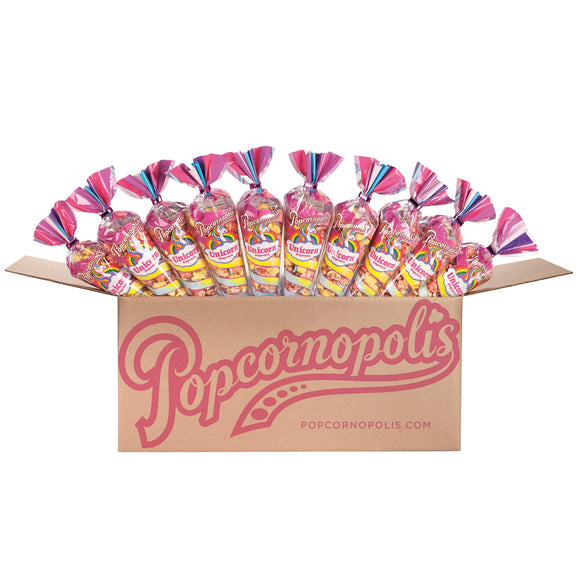 Popcornopolis Case of 24 Unicorn Mini Cones