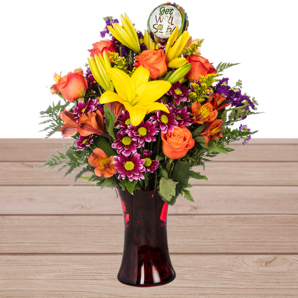 Get Well Wishes Floral Arrangement
