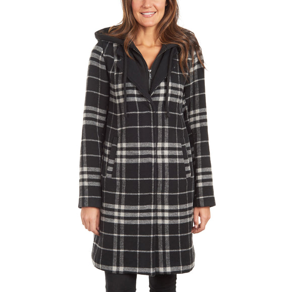 Rachel Roy Ladies' Plaid Walker Jacket with Bib
