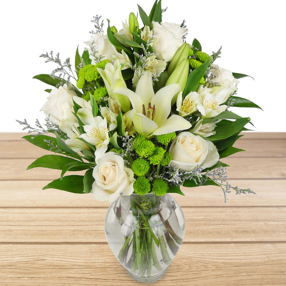 White Garden Floral Arrangement