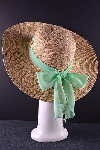 Floppy Hat with mint bow