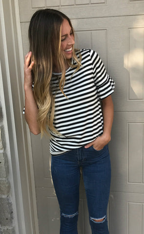 Brynn Striped Top